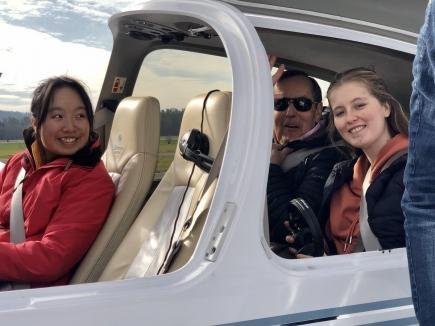 Alpenflug für unsere Austauschstudenten