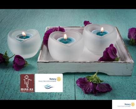 Candles of Love for minex Rotary Club Zürich Limmattal